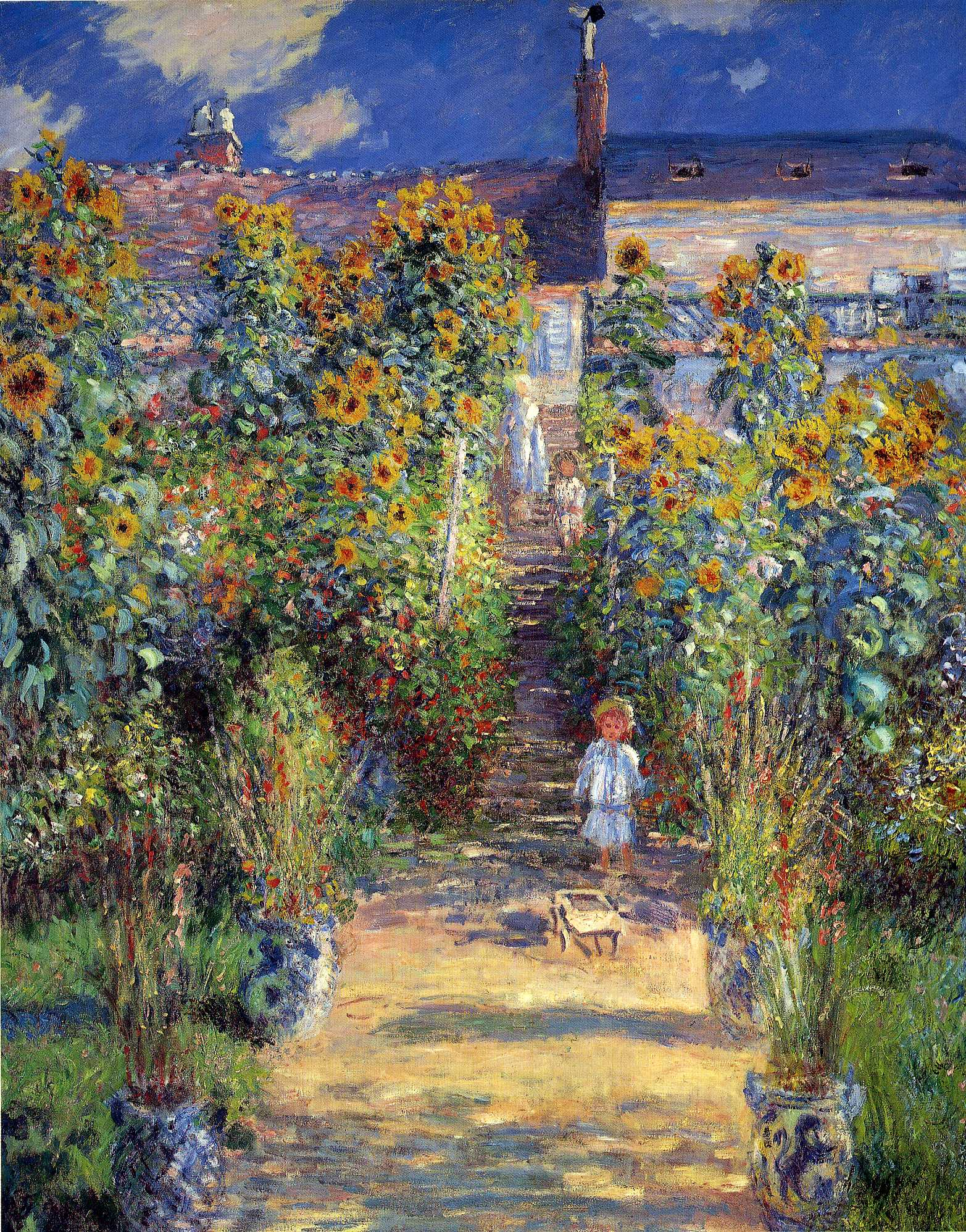Monet Pintor Cuadros Claude Monet Quotthe Artist 39s Garden At Vétheuil Quot 1880