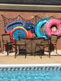 Our solution for a backyard bar / cargo net swimming pool ...