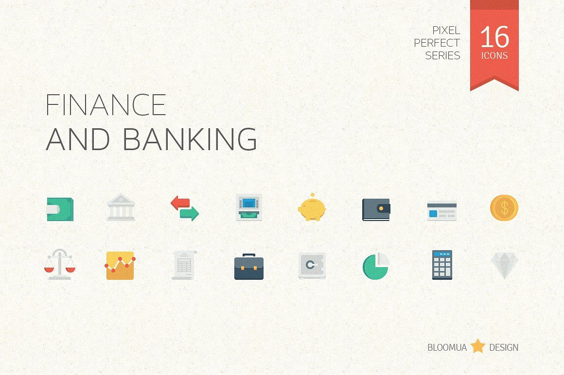 Cool Money Bank Cool Finance And Banking Flat Icons Bank Banking Business
