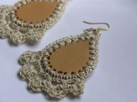 Leather and Crochet Earrings by lindalu on Etsy ...