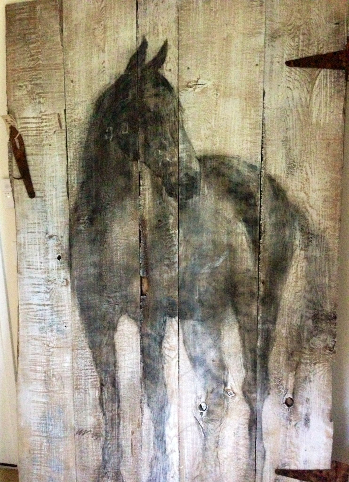 Art Painted On Wood Old Barn Door Used As A Painters Pallet How Beautiful Is