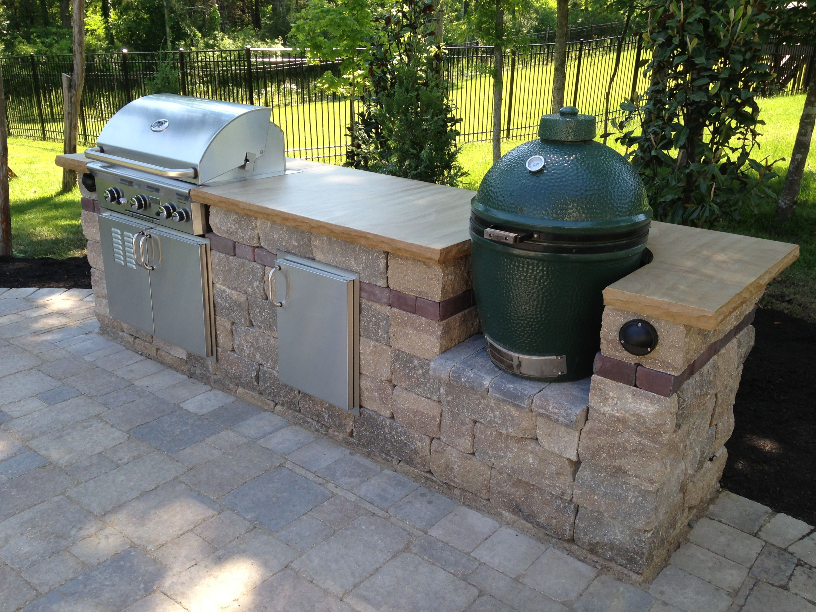 Outdoor Countertops Material Grill And Bge With Crab Orchard Stone Countertop Outdoor