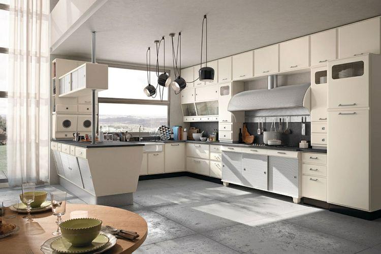 die moderne küche gestalten retro stil vintage designer küche - moderne kuche gestalten
