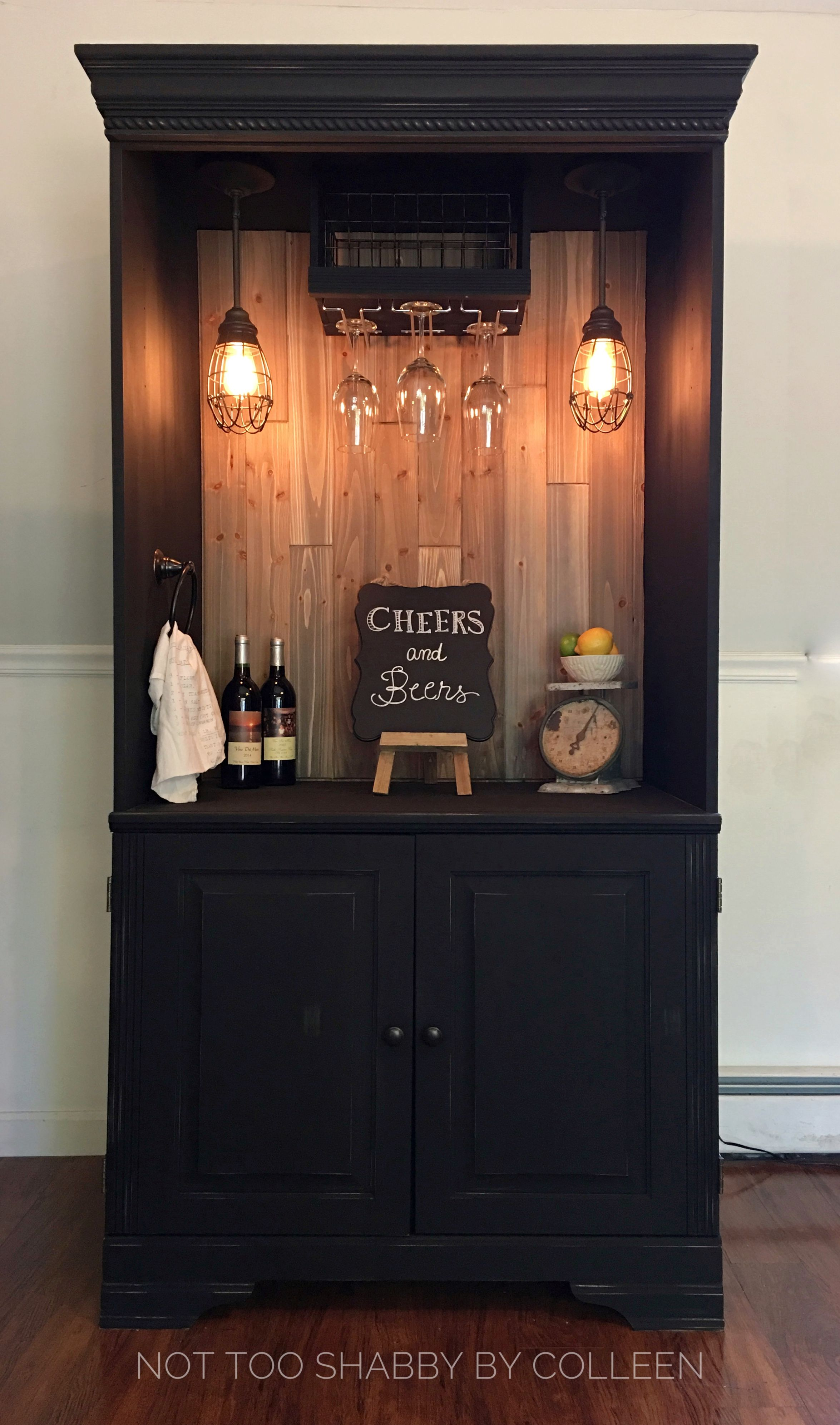 Different Ideas Diy Kitchen Island Upcycled / Repurposed Armoire Converted Into A Dry Bar