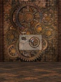 Steampunk Background Wall Mural - Vinyl  Pixers  We ...