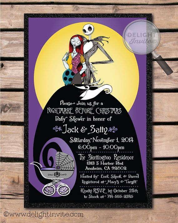 Jack \ Sally Nightmare Before Christmas Baby by DelightInvite - nightmare before christmas baby shower decorations