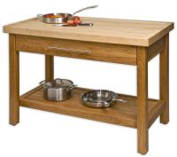 unfinished-teak-wood-kitchen-island-table-stand-with ...