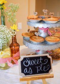 BBQ Baby Shower ; BABYQ; Dessert Table ; Mini Pie ...