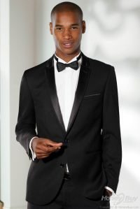 Notch Lapel Two Buttons Black Men Suits for Wedding ...
