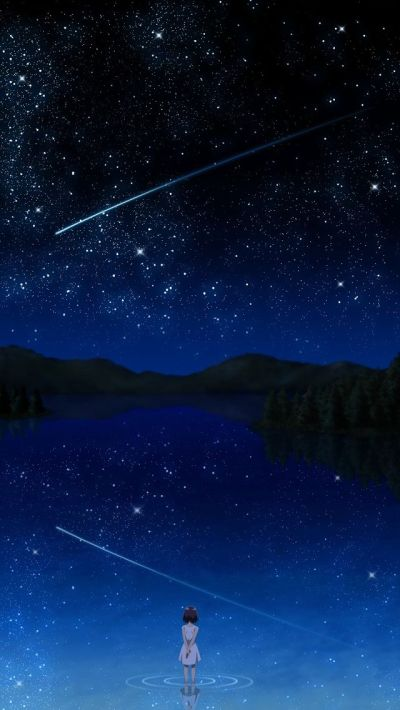 Girl and Stars #iPhone 5s #Wallpaper | Enter my website to enjoy colorful iPhone wallpapers ...