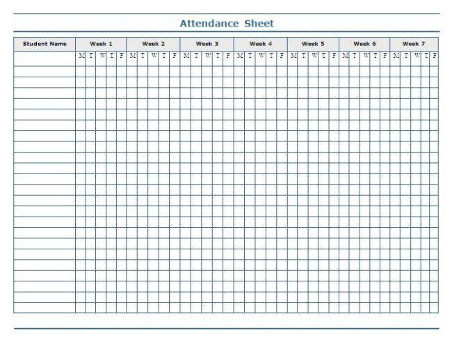 Attendance Form Templates cv01billybullockus – Attendance Form Templates