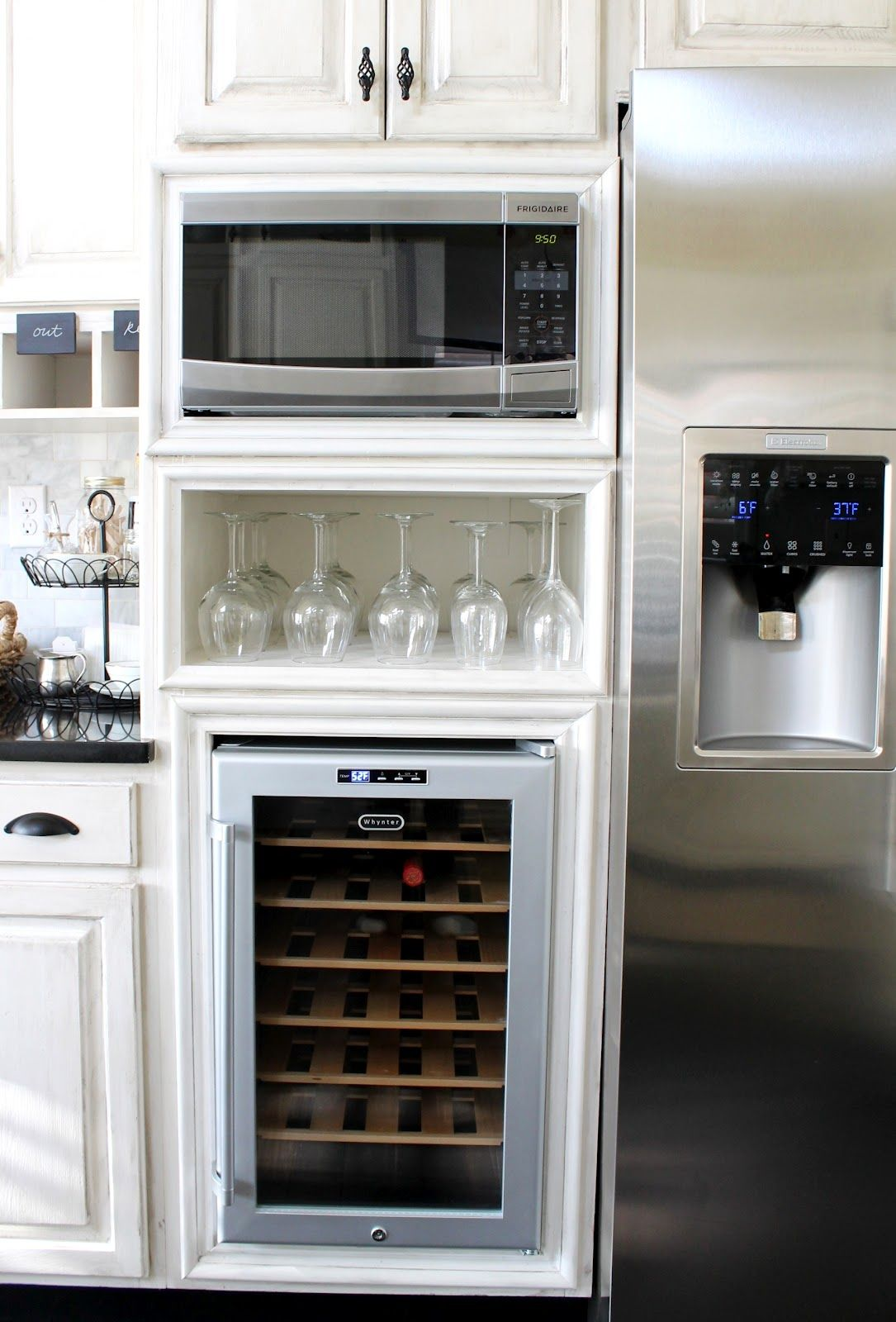 Kitchen Wine Cabinet Microwave Cabinet Wine Cooler From Our Fifth House Blog
