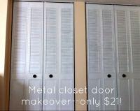 Spray Paint Closet Door Makeover for $21 | Closet doors ...