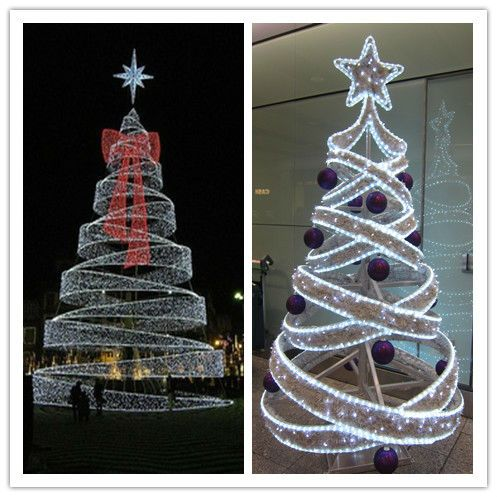 Factory Price giant led artificial spiral christmas tree led - outdoor led christmas decorations