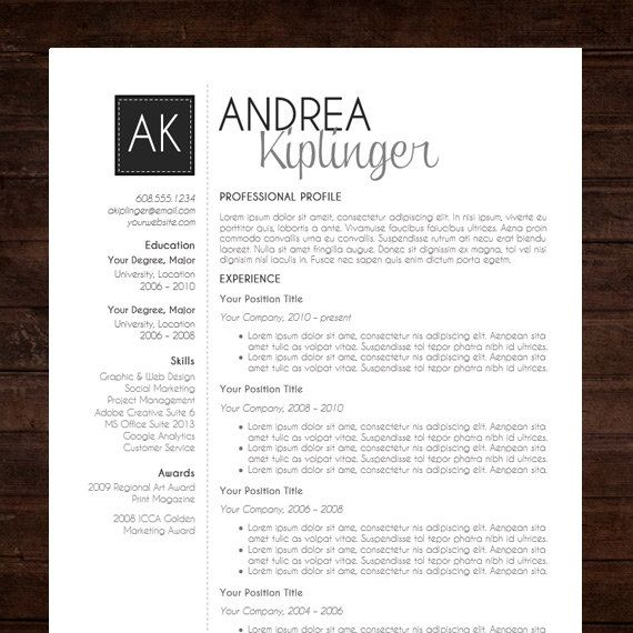 Modern Resume Template for Word \ Pages 1 2 by TheTemplateStudio - i need a resume template