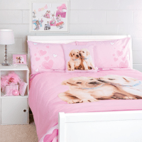 Dog theme bedding comforter pink | Bedroom | Pinterest ...