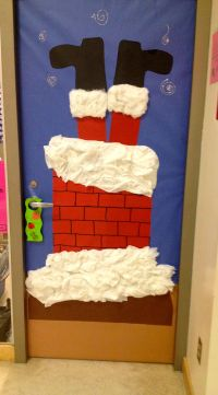 Christmas door decoration #3 | For School | Pinterest ...