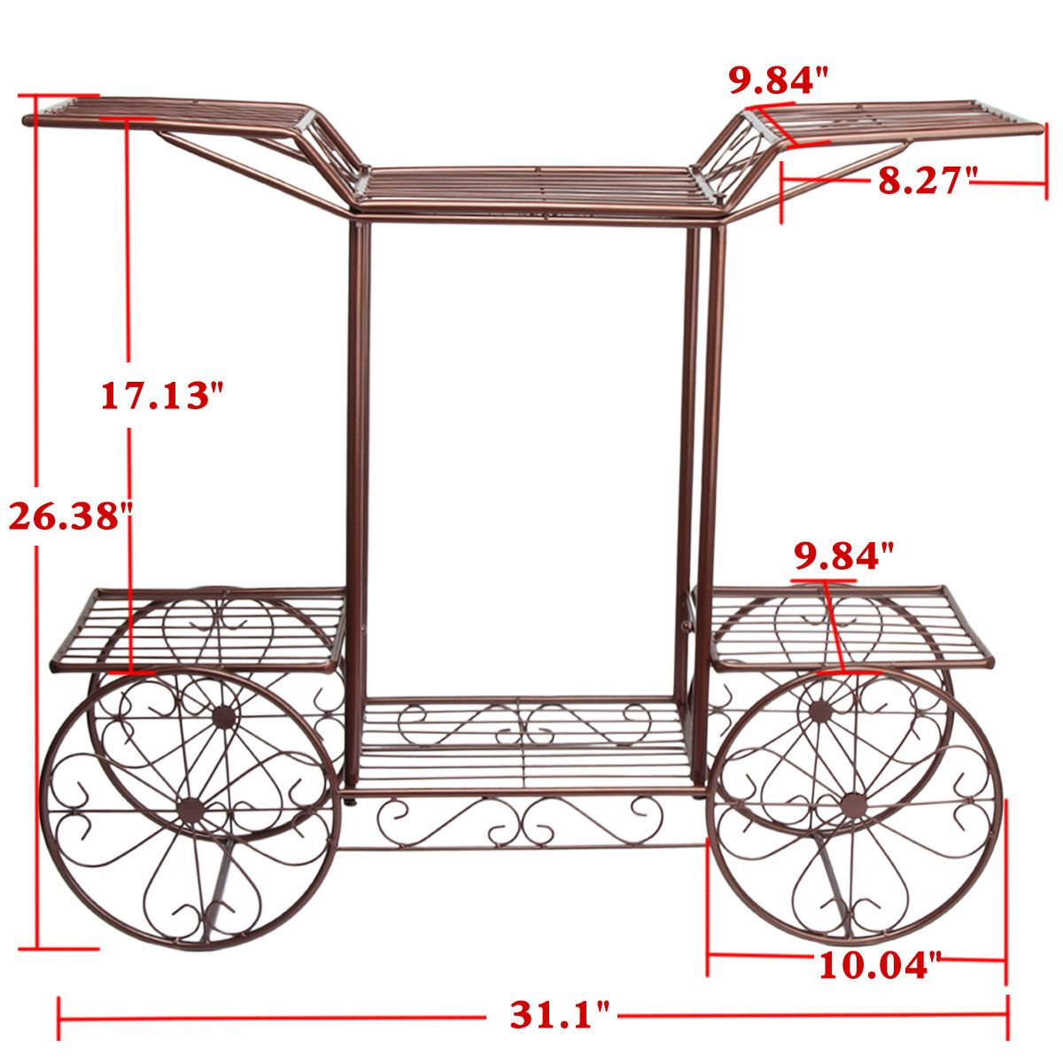 Green Metal Plant Stand Details About 4 Wheeler Metal Flower Rack Display Plant
