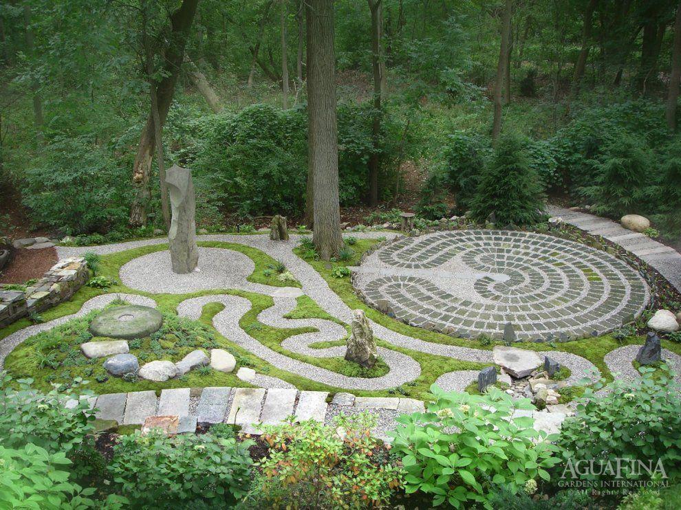 Spiritual Garden - A project by AguaFina Gardens International - labyrinth garden design