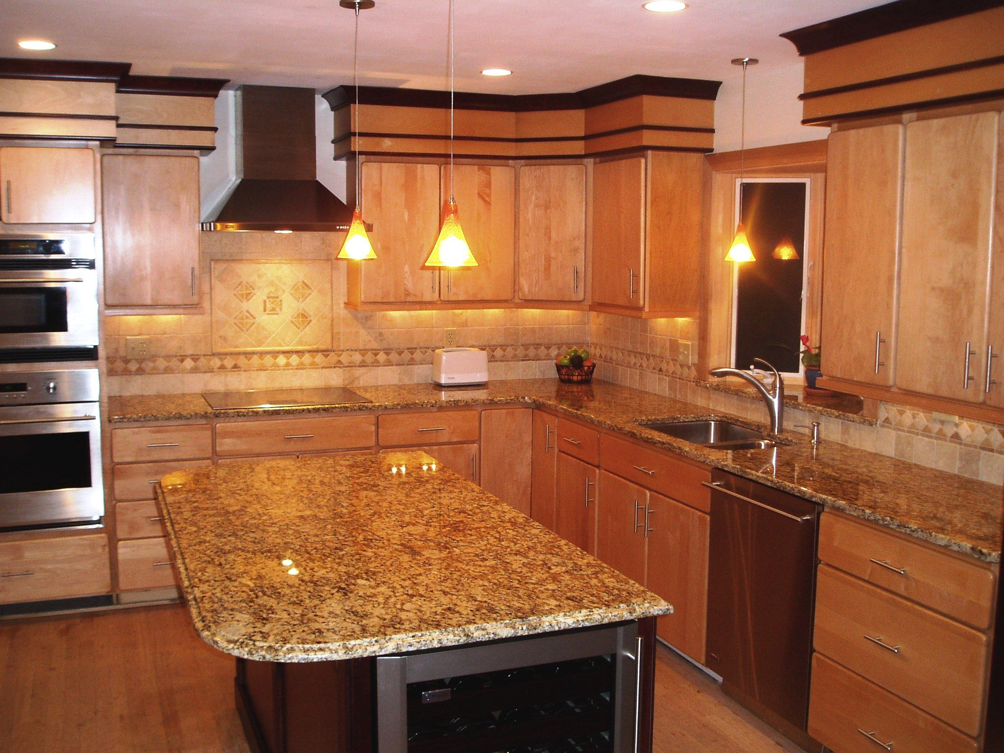 Oak Cabinets With Granite Countertops Pictures Oak Kitchen Cabinets With Granite Countertops