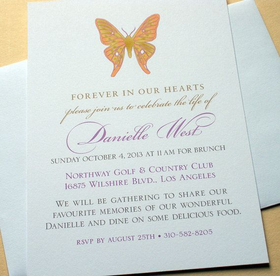 This customized  - funeral ceremony invitation