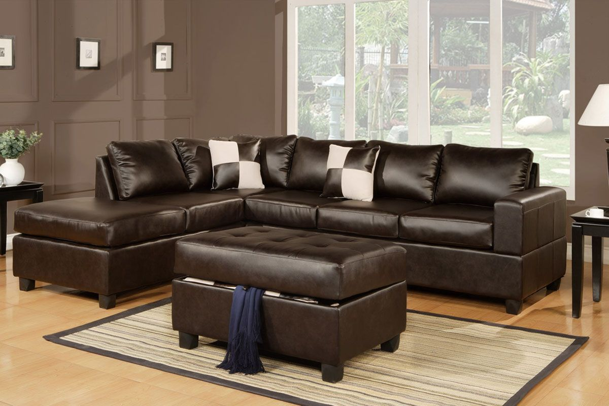 Wall Colors For Brown Leather Furniture Serene Living Room Decor With Wood Floor And L Shaped