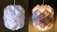 DIY paper lamp/lantern (Cathedral light) - how to make a ...