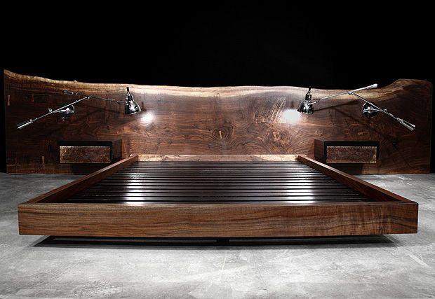 Doppelbett \/ Standard \/ originelles Design \/ mit integriertem - designer nachttische schlafzimmer