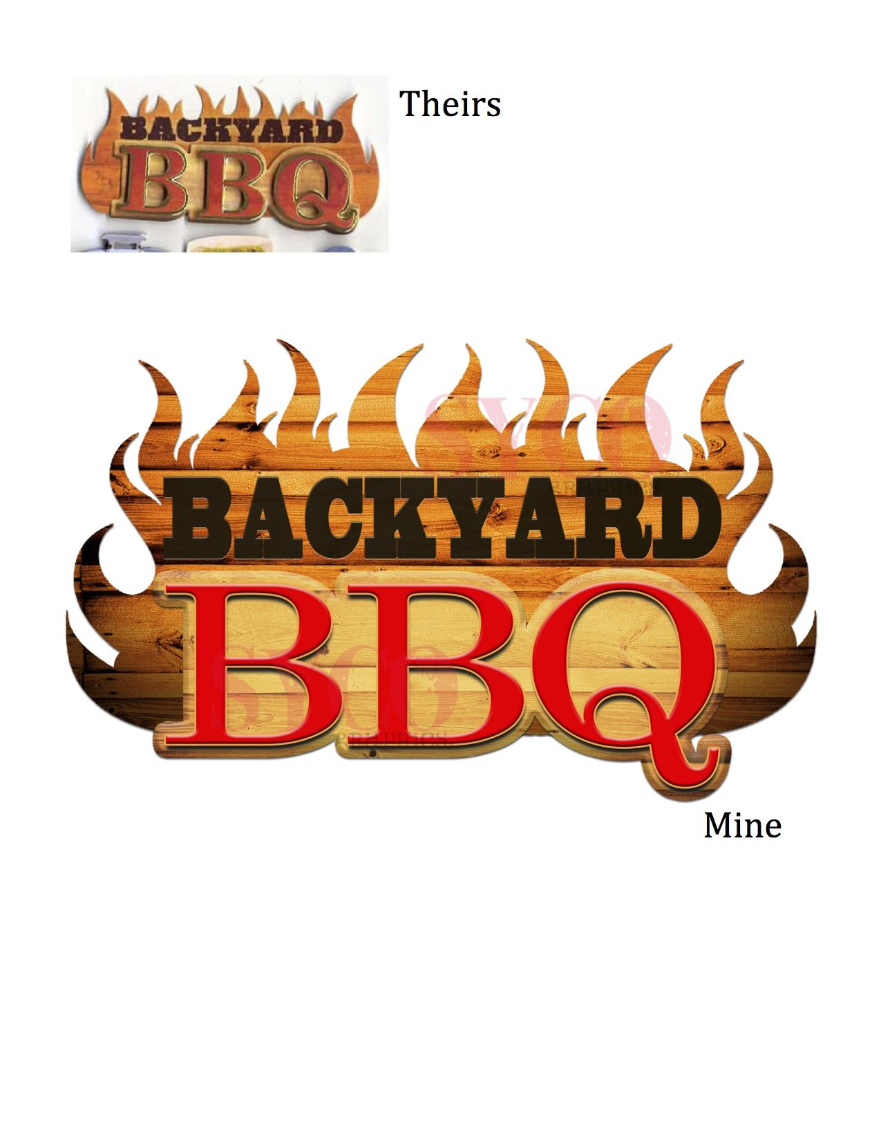Backyard BBQ logo Designed For: Cory Thomas