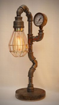 Iron Pipe Steampunk Industrial Lamp with by ...