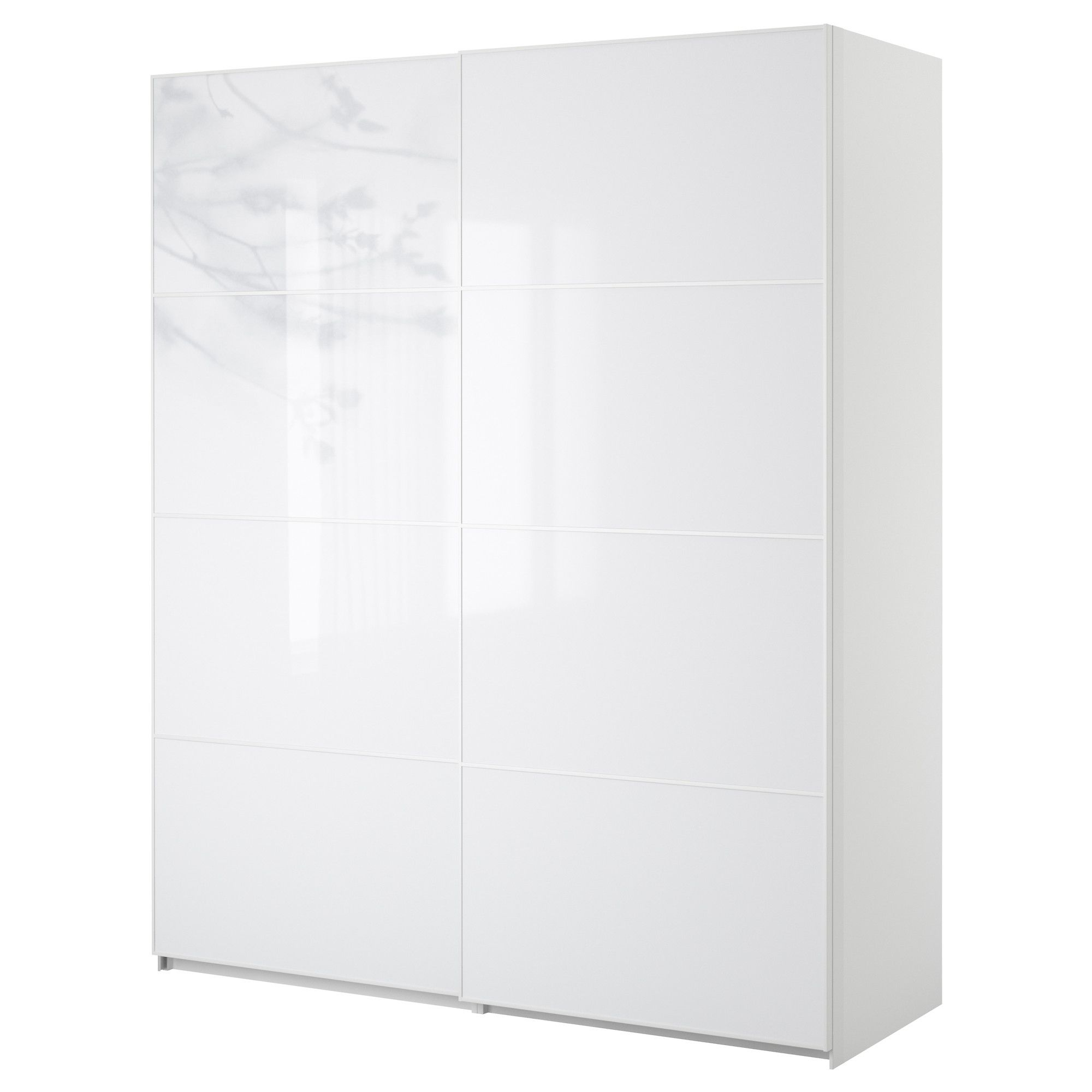 White pax wardrobe with sliding doors possible major room accent building on the wood stone shelf accent wall idea sliding doors demand less space