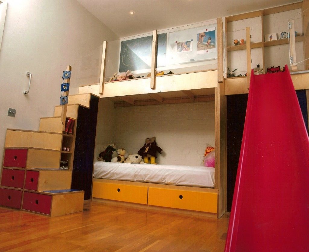 Kids Bed With Slide Bunkbeds With Play Area 43 Slide Kids 39 Rooms Bunk Beds