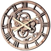 """Gears of Time 22"""" Wide Roman Numerals Wall Clock 
