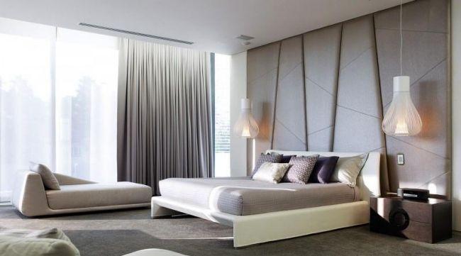 wohnideen schlafzimmer modern pastellfarben polster kopfbrett - wohnideen modern