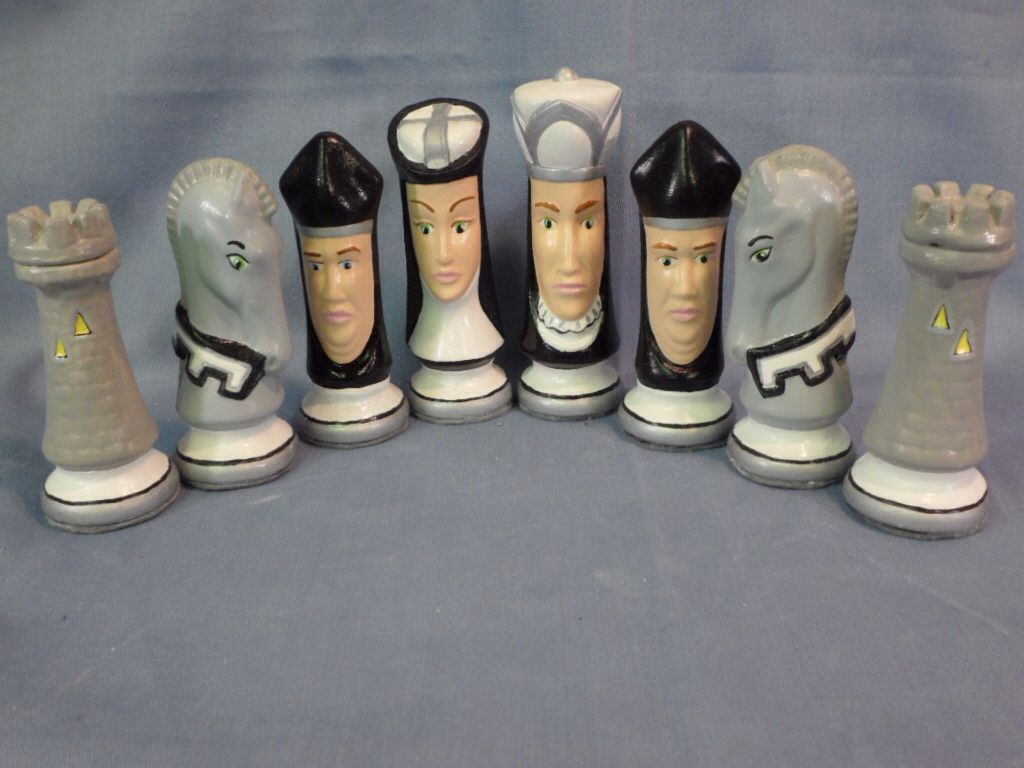 Personalized Chess Set Gift Raiders Custom Chess Set Ceramics And Pottery Pinterest