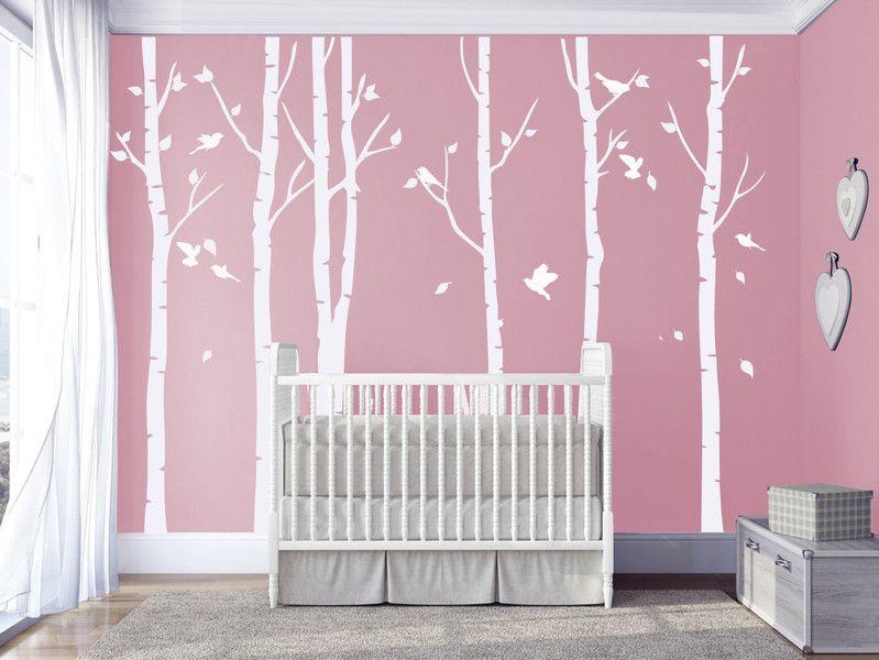 Wanddeko - Weiße Birke Wandtattoos Kinderzimmer Wandtattoo - ein - wandsticker babyzimmer nice ideas