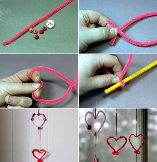 Valentineu0027s Day crafts for kids - Easy ideas for sweet gifts and - craft ideas for the home
