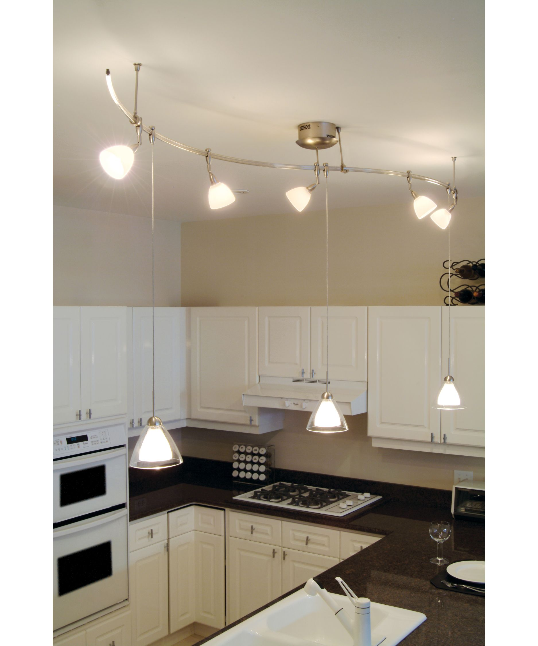Kitchen Track Lighting Kitchen Track Light Maybe One Hangs Down Over Sink For