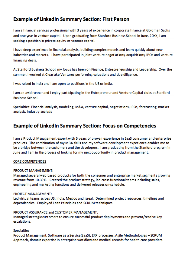 goldman sachs resume examples