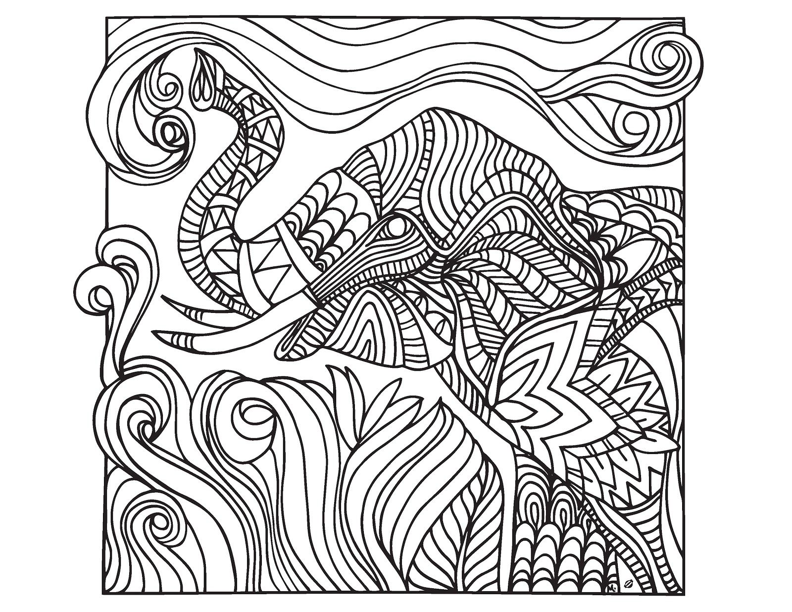 difficult abstract elephant coloring pages for adults abstract elephant coloring pages for adults coloring tone