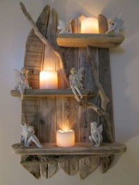 Old worn Genuine Driftwood Shelves Solid Rustic Shabby ...