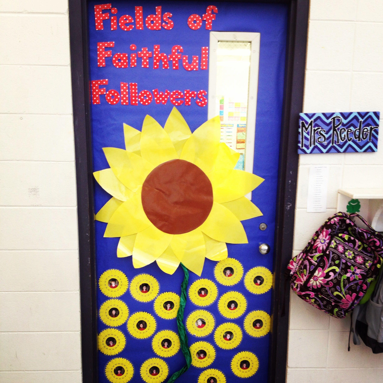 Catholic school fall door decoration ideas for teachers