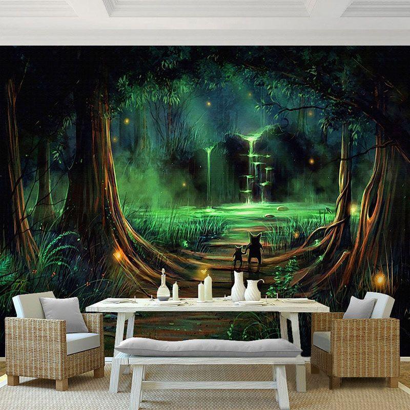 Günstige Benutzerdefinierte 3d stereo mural tapete hd märchenwald - 3d tapete kinderzimmer nice ideas