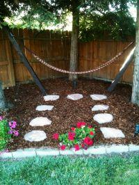 Backyard Hammock... this kind of looks like our backyard ...