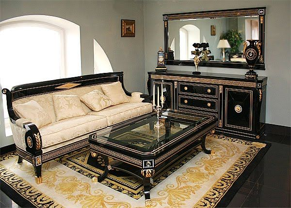 Living Room Set in Empire Style - Top and Best Italian Classic - italian living room sets