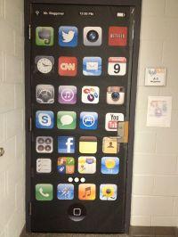 Door decor for technology classroom at an Apple ...