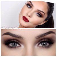 Night Out Makeup Tutorial Burgundy Lips Brown Smokey Eyes ...