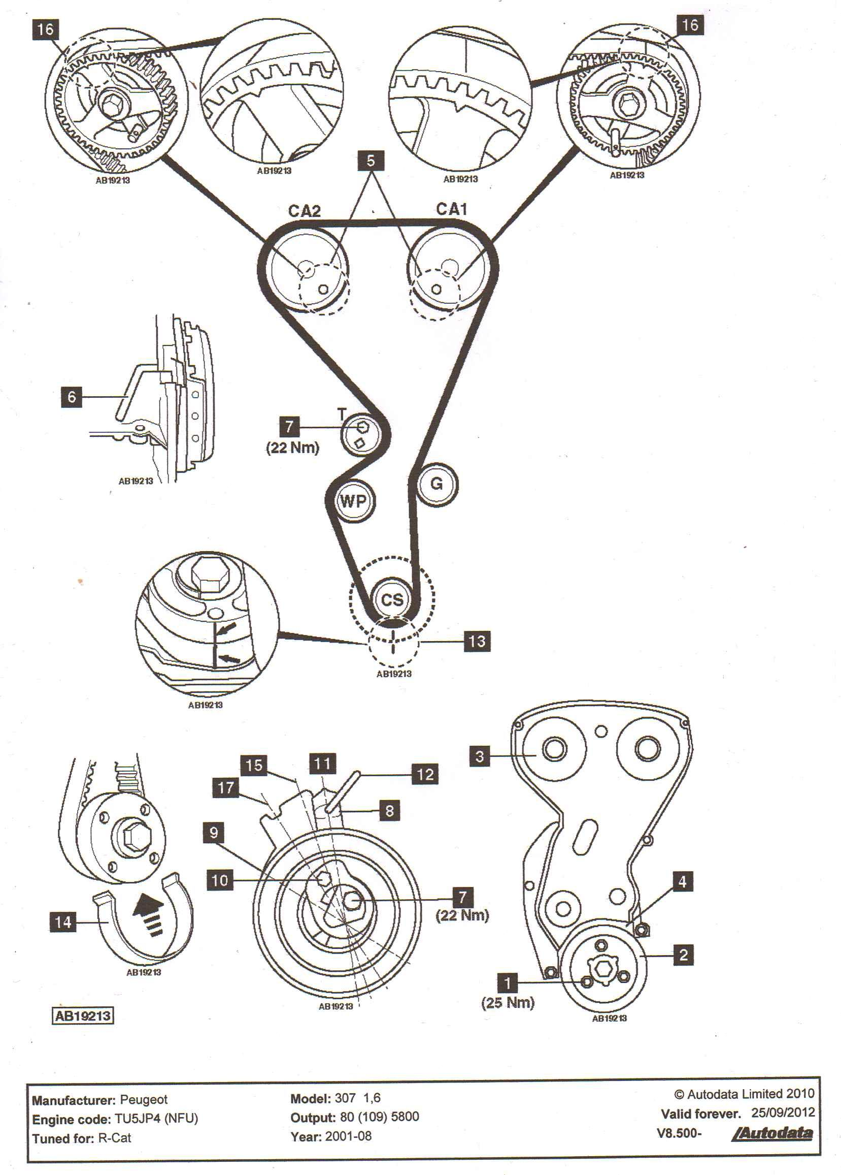 peugeot 307 1.6 engine diagram