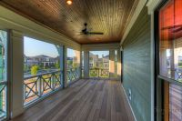 Awesome screened porch with wood decking and stained ...