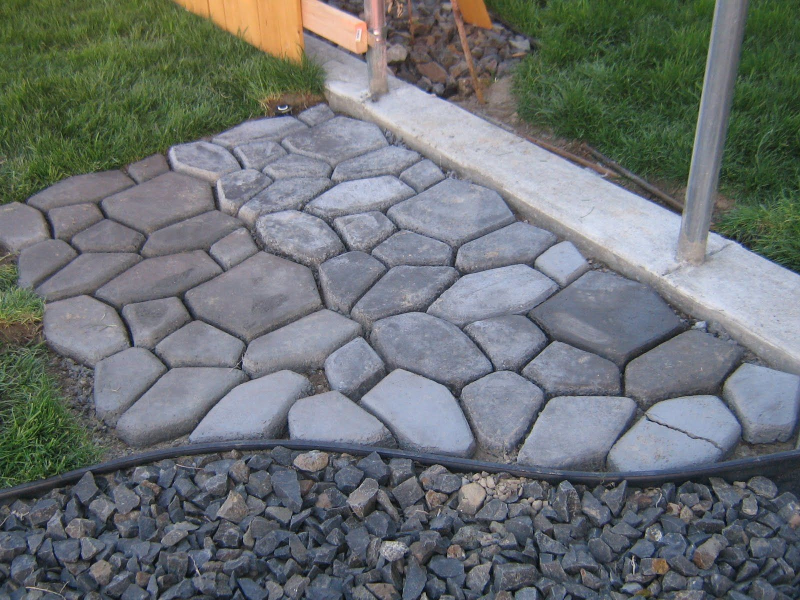 Diy Paint Concrete Patio Diy Cobblestone Get Cement Form Concrete And Concrete